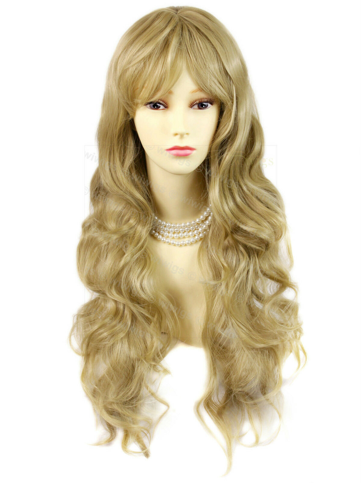 Wiwigs Beautiful Layered Golden Blonde Wavy Skin Top