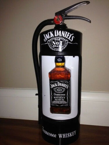FATHERS DAY GIFT Jack Daniels Fire Extinguisher Display Case Man Cave BLACK