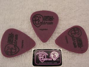 D-039-ANDREA-351-TNDX114-Delrex-Delrin-Guitar-Picks-1-14MM-PURPLE-12-picks-in-Tin