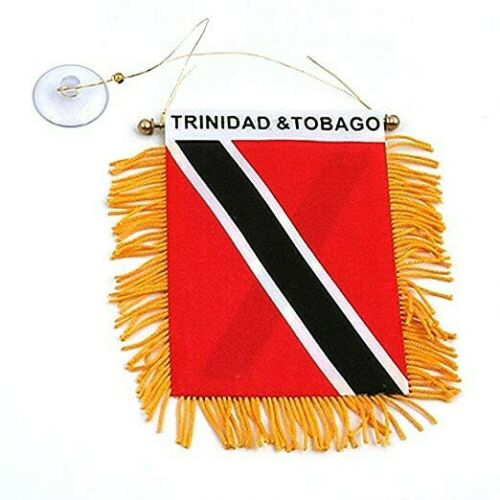 Trinidad Tobago Mini Banner Flag Flags Cars Home Window Rearview Mirror TNT