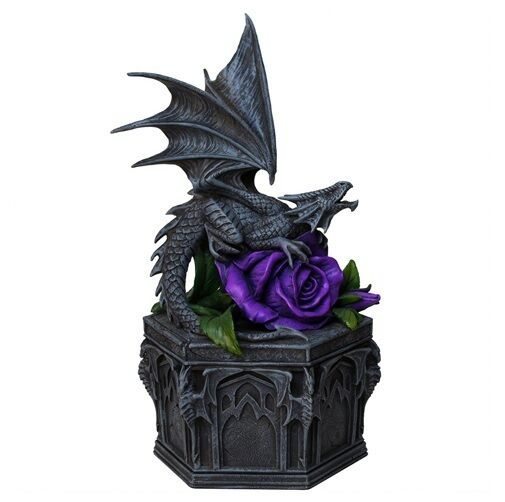NEMESIS NOW DRAGON BEAUTY TRINKET BOX GOTHIC FANTASY ANNE STOKES DISPLAY PROP