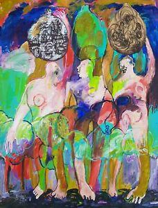 Lysiane-D-COSTE-technique-mixte-sur-papier-painting-on-paper-50-65cm-2020