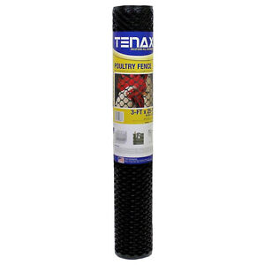 3'x25' Tenax Hex Plastic Poultry Netting Fence Chicken Wire Garden Mesh Fencing