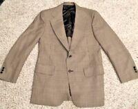 40 Hart Schaffner Marx Men's Brown Blue Tweed Blazer Sport Coat Suit Jacket #357