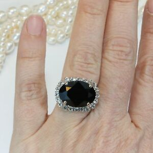 Luxurious-Round-Black-Sapphire-Wedding-Ring-925-Silver-Anniversary-Promise-Gift