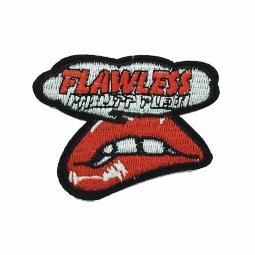 Iron On FLAWLESS LIP Embroidery Applique Patch Sew Iron Badge