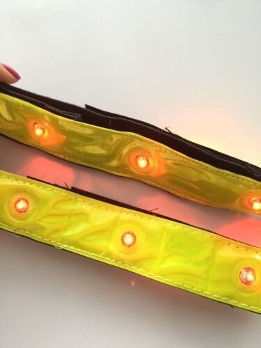 1x Sports Night Reflective LED Light Arm leg Strap Cycling Fluorescent Band