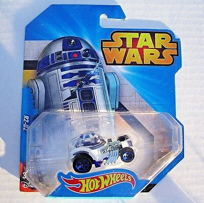 STAR WARS R2-D2 1:64 HOT WHEELS CHARACTER CAR NEW MINT ON R2-D2 BLISTER CARD!