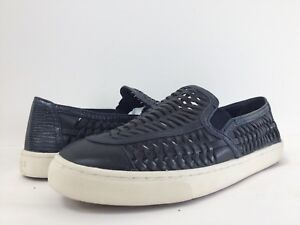 64d6dc1c64b4 New Tory Burch Women s Huarache Woven Leather Slip-On Sneakers Shoes ...