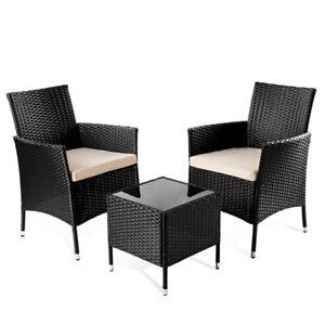 set de muebles jardin o terraza modelo trento 3pc de ratan mesita+ ... - Muebles Jardin