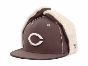 Cincinnati Reds New Era 59FIFTY MLB Men s Dog Ear Winter Cap Hat ... 4e102493770b