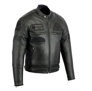 Veste-En-Cuir-Moto-Homme-Vintage-Cafe-Racer-Jacke-Blouson-Rocker-Retro-Noir