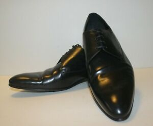 Black Leather Derby Shoes, Size