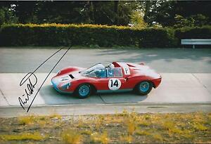 Richard Attwood Classic Autograph 12x8 Photo AFTAL COA Signed Winner Vintage