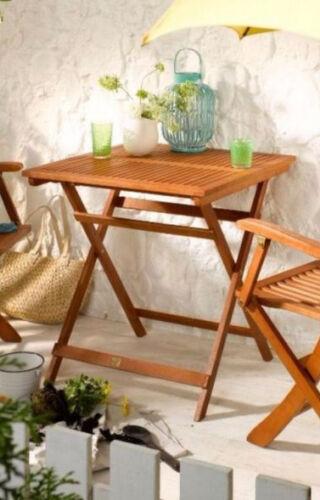 LINUS Klapptisch 70x70 Gartentisch Tisch Balkontisch Holztisch Terrasse Natur