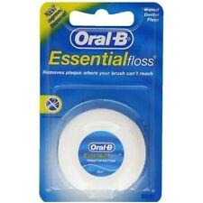 Oral B ESSENTIAL dentali filo interdentale cerato - 50m lunghezza Nuovo di zecca Sapore, confezione da 4