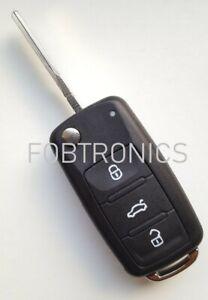 For-Seat-Ibiza-Leon-Toledo-3-Button-Flip-Remote-Key-Fob-Case-Blank-HAA-Blade-A87