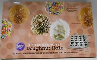Wilton Doughnut Donut Hole 2 Piece Baking Set Pan & Cooling Grid Makes 20