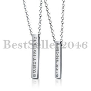 Personalized-Couple-Stainless-Steel-Necklace-Name-Engraved-Vertical-Bar-Pendant