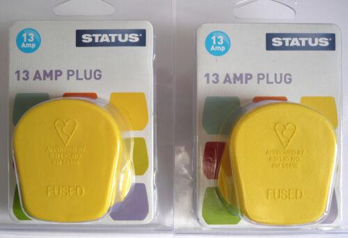 Statut 13amp PLUGTOP Yellow Zest Pack de deux
