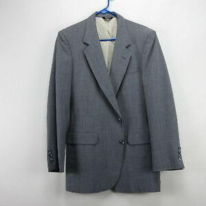 Mens Pierre Cardin Pinstripe Blazer Sport Coat Jacket Gray 38R Two ...