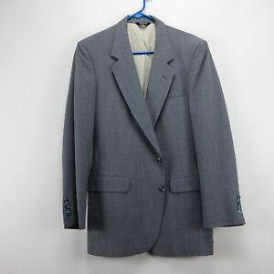 Mens Pierre Cardin Pinstripe Blazer Sport Coat Jacket Gray 38R Two ...