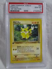 PSA 10 GEM MINT Pikachu Jungle First 1st Edition Pokemon Card 60/64          S30