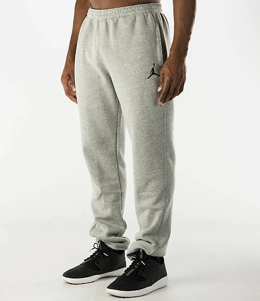 6de538e3c0db30 Nike Air Jordan Jumpman Brushed Tapered Men s Sweatpants Grey 688999-063 b