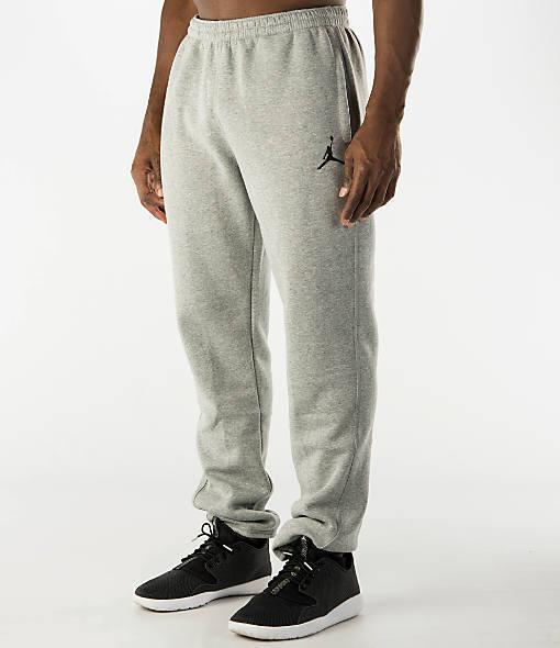 f2dff8d8e58 Nike Air Jordan Jumpman Brushed Tapered Men's Sweatpants Grey 688999-063 b