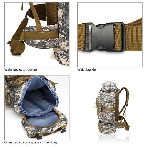 80L Waterproof Hiking Camping Sport Bag Travel Backpack Outdoor Luggage Rucksack