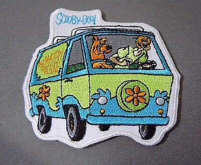 """Scooby-Doo /& Gang in Mystery Machine 4/"""" Tall Embroidered Patch Great Quality!"""