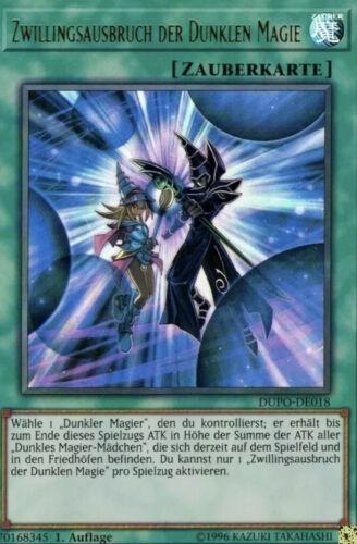 DUPO-DE018 Ultra Rare DE NM Zwillingsausbruch der dunklen Magie