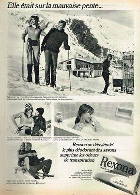 S Publicité Advertising 1970 Le Savon Rexona ...sports D'hiver Ski Breweriana, Beer