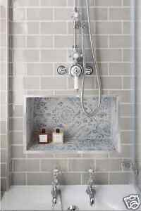 Devon Metro Flat Arctic Grey Gloss Subway Kitchen Bathroom Wall Tiles 10 X 20cm Ebay