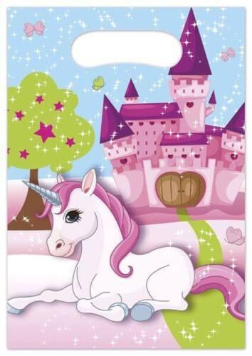 Einhorn 6 Partytüten Geschenktüten Geburtstagstüten Tüten Beutel Bags Unicorn
