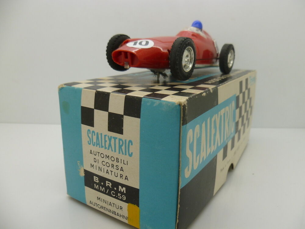 Scalextric French C59 BRM, totally mint car and great box.
