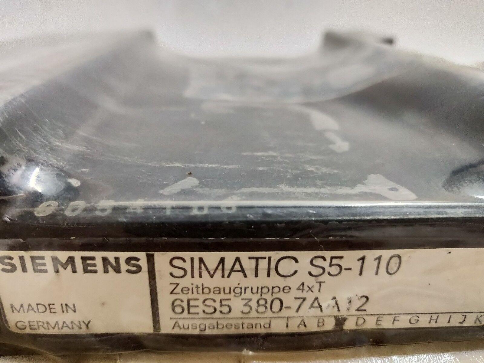 Siemens Simatic PLC S5-110 6ES5 380-7AA12 Timer Module 6ES5380-7AA12 S5110