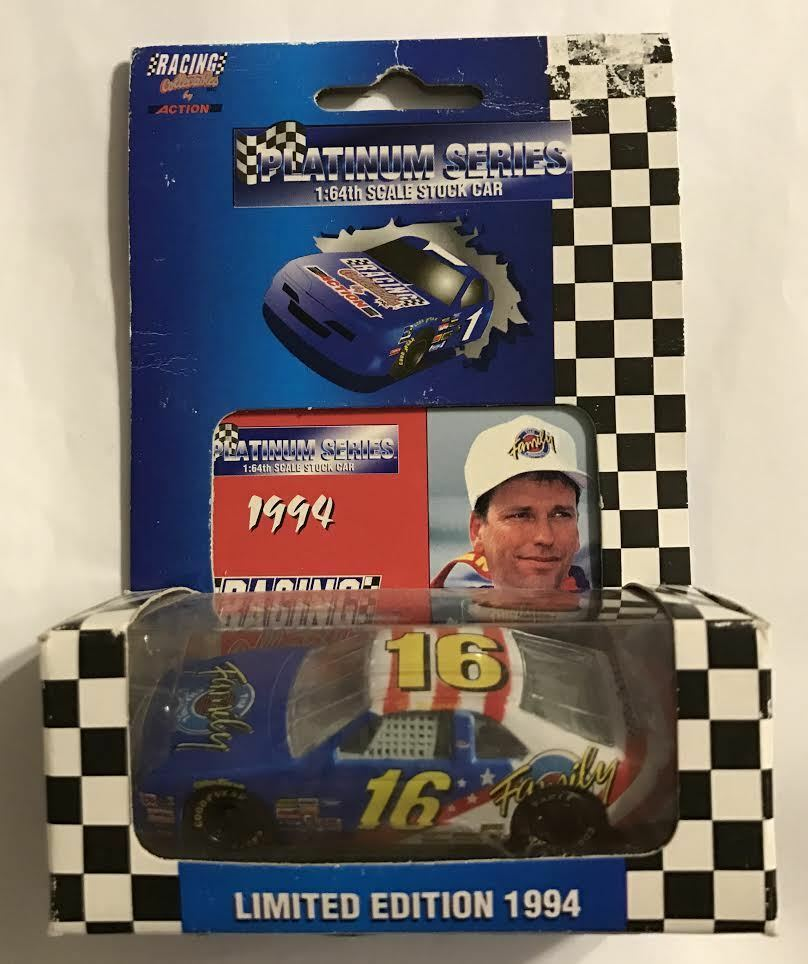 TED MUSGRAVE   FAMILY CHANNEL  1994 T-BIRD  PLATINUM CAR  1 OF 10,000 CARS