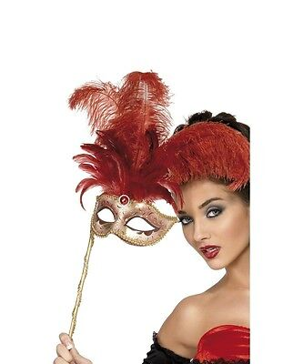 RED /& GOLD SUPER VALUE VENETIAN MASQUERADE PARTY CARNIVAL BALL EYE MASK