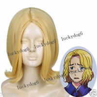 APH Axis Powers Hetalia France Blonde Anime Cosplay Hair Wig Synthetic Wigs NEW
