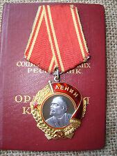 RUSSIAN SOVIET RUSSIA USSR MEDAL PIN BADGE ORDER of Lenin Document Gramota