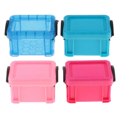 4Pcs Storage Containers for 1:6 Dolls House Furniture Decoration Accessory