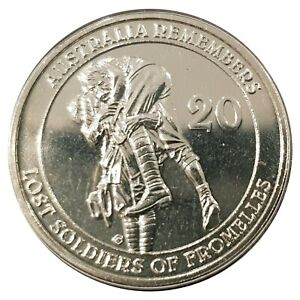 Australia-2010-WWI-Memorial-Lost-Soldiers-of-Fromelles-20c-UNC-Coin-Carded-RAM