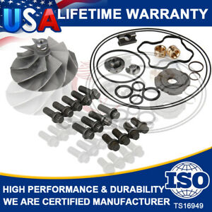 Turbo Banks Wicked Wheel &Upgraded Rebuild Repair Kit For Powerstroke 7.3L 94-03