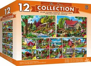 Alan Giana Collection  Garden & Country Scenes 12 Pack Jigsaw Puzzles