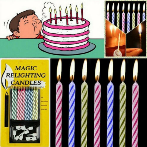 10pcs Magic Trick Relighting Birthday Candle Naughty Party Prop Joke Kids Toy US