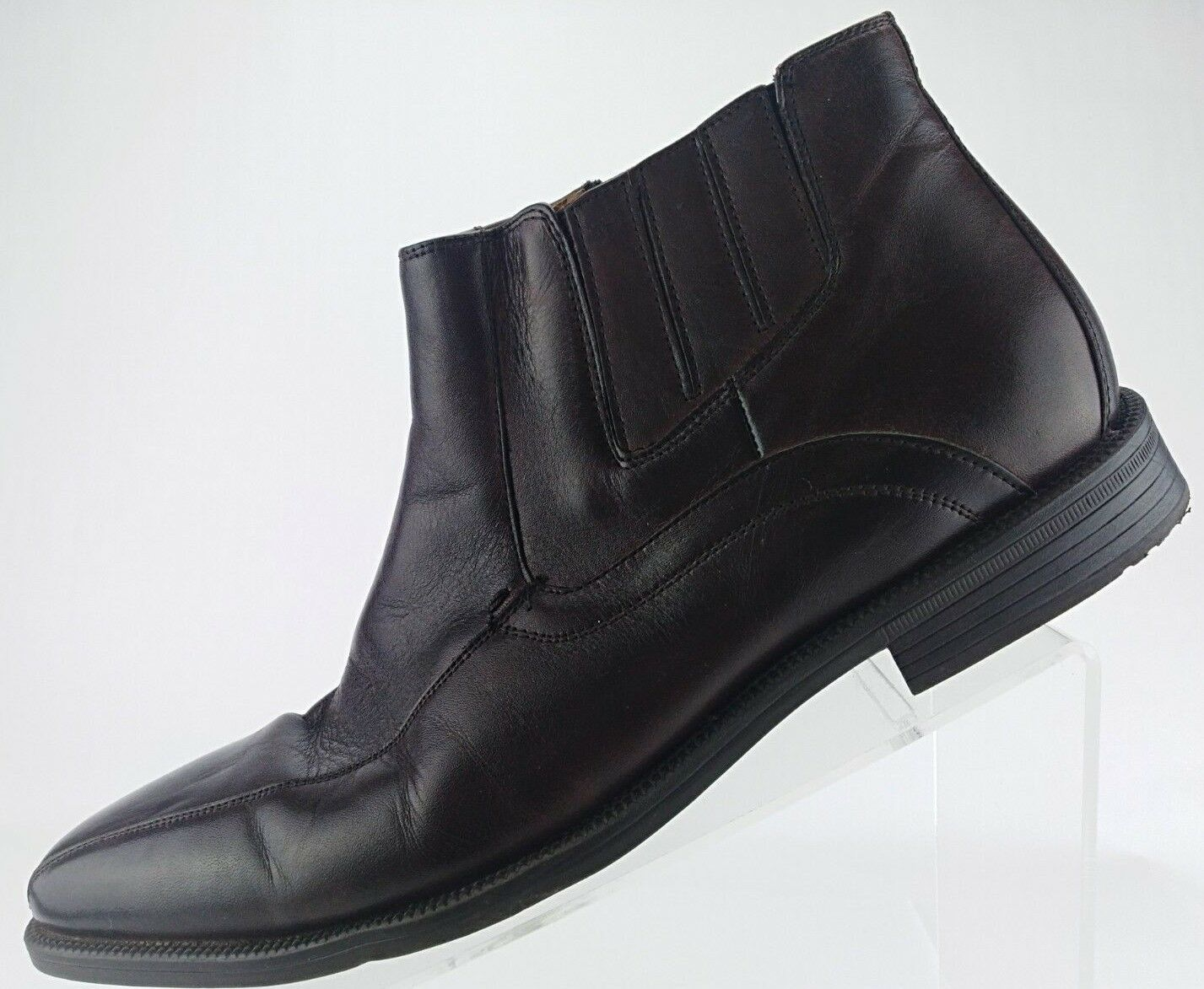 Florsheim Forum Bike Toe Zipper Ankle Boots- Dress Leather shoes Mens 10.5D Brown