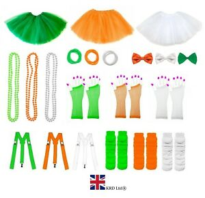 ST-PATRICK-S-DAY-FANCY-DRESS-COSTUME-ACCESSORY-Tri-Colour-Party-Irish-Clover-UK