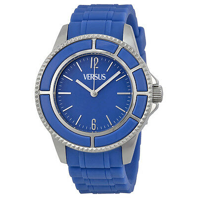 Versus By Versace Tokyo Blue Dial Blue Rubber Ladies Watch SGM040013