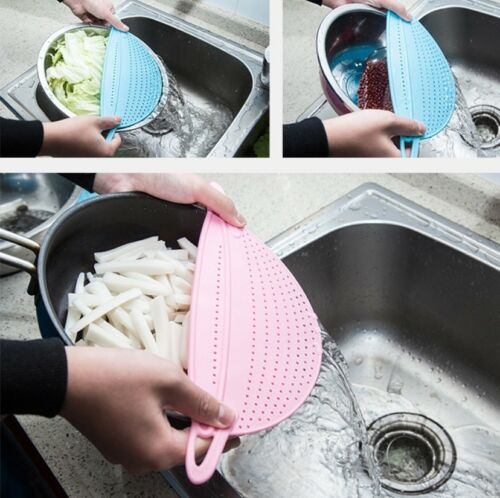 NEW Kitchen Pot Strainer Water Filters Drainer Expandable Plastic Drain Tool BJ